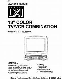 Lxi Tv  Vcr Or Dvd Combo Manual L9120174