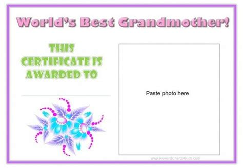 grandmother certificate