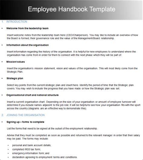 Employee Handbook Template Employee Handbook Template Cyberuse
