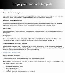 10 employee handbook templates free word pdf doc samples With company handbook template free
