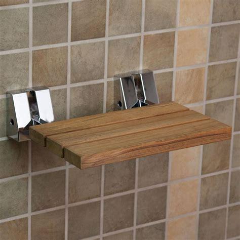 lbs wall mount teak folding shower seat signature