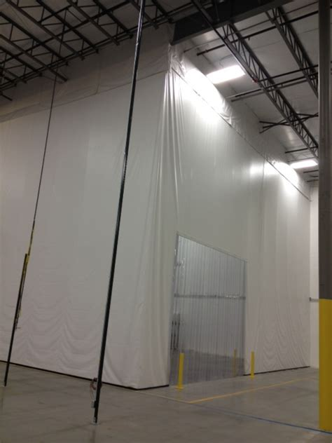temperature controlled areas using industrial curtains
