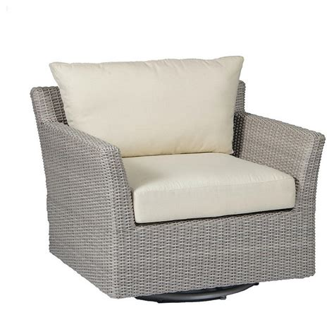 club woven swivel outdoor lounge chair with cushions