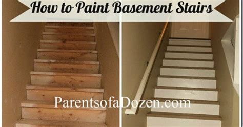 Parents of a Dozen: How to Refinish Basement Stairs