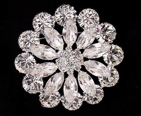 bridal brooches   swarovski crystal rhinestones