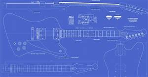 Gibson Firebird Studio Guitar Templates