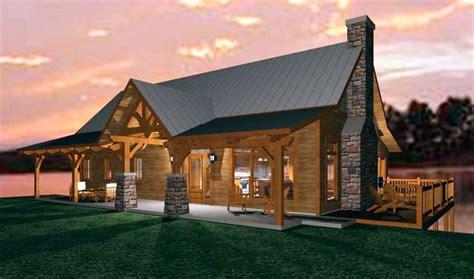 Open Cabin An Open Concept Timber Frame Design For A Family Cabin