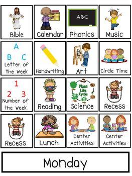 preschool interactive daily schedule chart preschool prek 928 | original 2657004 1