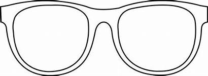 Sunglasses Outline Glasses Printable Coloring Clip Eye