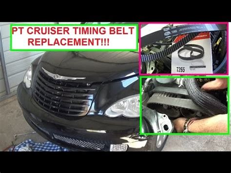 chrysler pt cruiser timing belt replacement 2 4 engine how to replace the timing belt