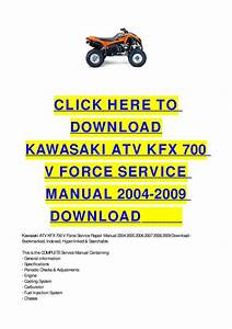 Kawasaki Atv Kfx 700 V Force Service Manual 2004