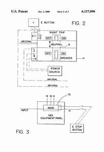 Patent Us6157096 - Neutral Switched Shunt Trip Emergency Gas Panel