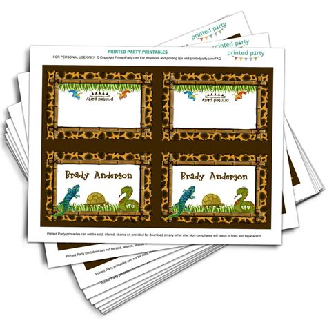 reptile   birthday   printed party