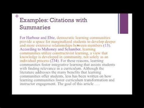 mla  text citation rules youtube