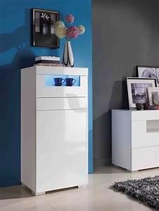 Petit Meuble Design : meuble rangement blanc laque ~ Preciouscoupons.com Idées de Décoration