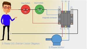 3 Phase Dol Starter Motor Diagram