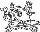 Sewing Machine Embroidery Steampunk Designs Drawing Tattoo Patterns Coloring Paper Pages Singer Featherweight Stitch Outline Urban Threads Urbanthreads Applique Adult sketch template