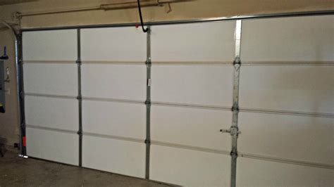 garage door insulation garage door insulation living stingy insulating your garage door for cheap review insulfoam