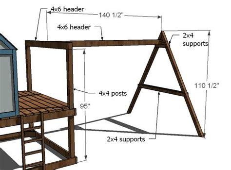 swing set plans woodwork wooden playhouse swing set plans pdf plans