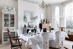 Déco et meubles shabby chic dans la salle à manger