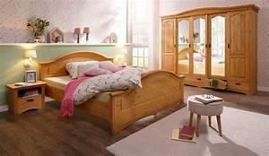 Landhaus Schlafzimmer Komplett Massiv : home affaire 4 tlg schlafzimmer set konrad mit 5 trg kleiderschrank bett 180 200 cm und 2 ~ Bigdaddyawards.com Haus und Dekorationen