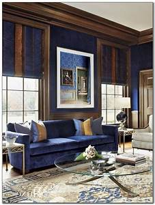 Blue, And, Chocolate, Living, Room, Decor