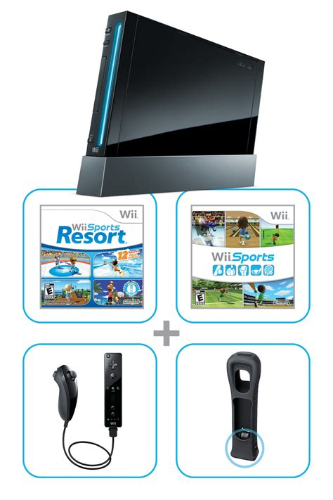 wii console sports resort bundle nintendo wii to new pack ins color aggrogamer