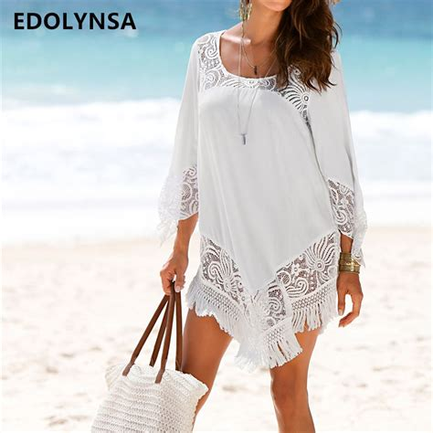 Cover Ups by Aliexpress Buy White Lace Cover Ups Swimwear 2019