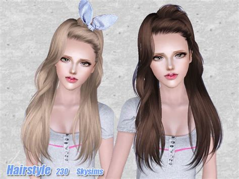 new hair styles sc3h 2996 hairstyle the sims 3 catalog 2996