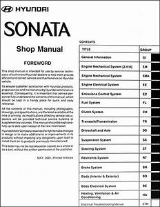 2002 Hyundai Sonata Repair Shop Manual