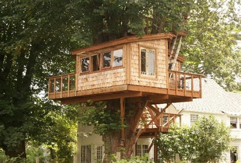 How To Build A Simple Treehouse Without A Tree  Wooden Global