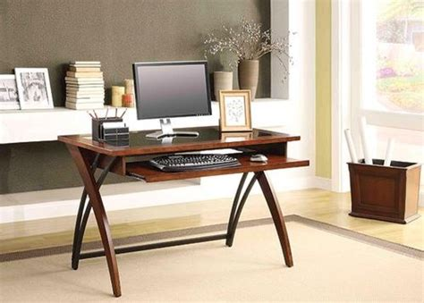 Menards Wood Computer Desk by Whalen 48 Quot Walnut Finish Genesis Glass Top Writing Desk At