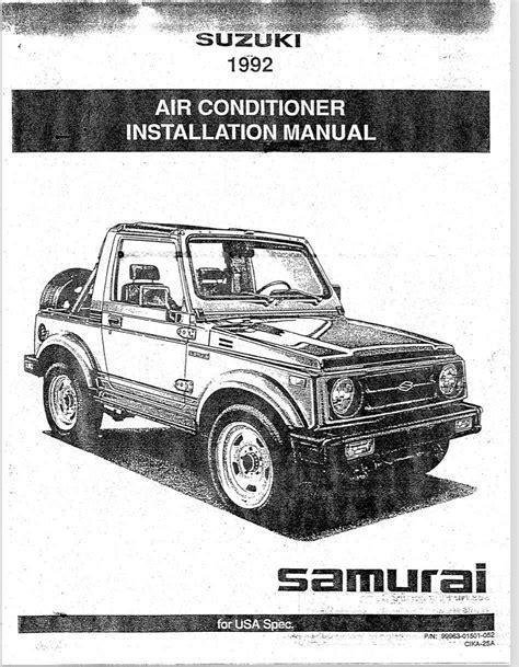 Suzuki Samurai Oem Parts by A C Installation Pdf Manual Oem Suzuki Samurai 1 3l 8v
