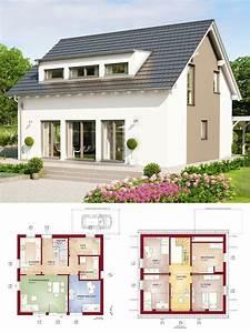 Haus Grundriss Ideen Einfamilienhaus : klassisches satteldach haus mit gaube galerie ~ Lizthompson.info Haus und Dekorationen