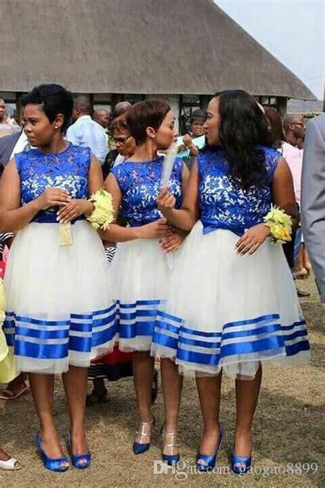 royal blue lace african knee length bridesmaid dress