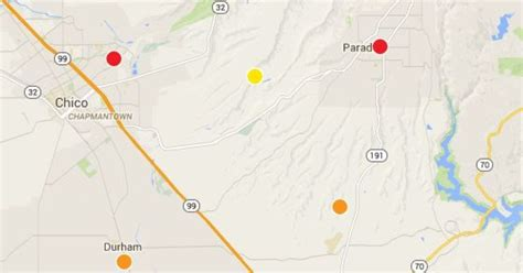 power outages  impacting portions  chico paradise
