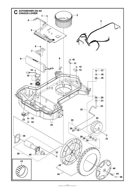 husqvarna automower  ac   parts diagram