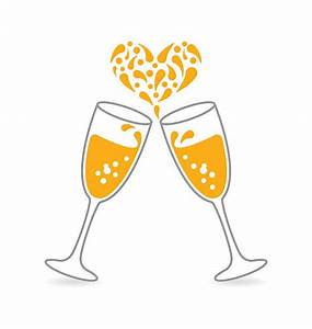 Champagne clipart wedding champagne - Pencil and in color ...