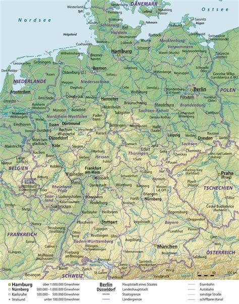 landkarte deutschland grosse uebersichtskarte weltkarte