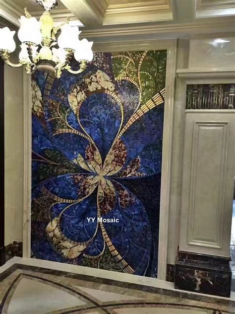 italy design style art mural mosaic wall glimmer ice jade