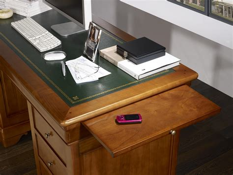 bureau merisier louis philippe bureau ministre 9 tiroirs en merisier massif de style