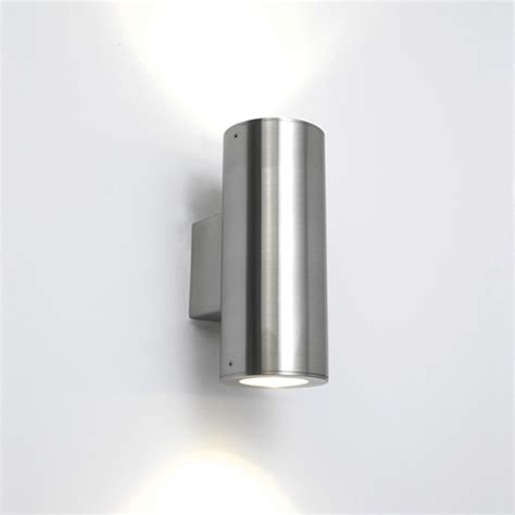 ip44 detroit outdoor wall light in stainless steel for up