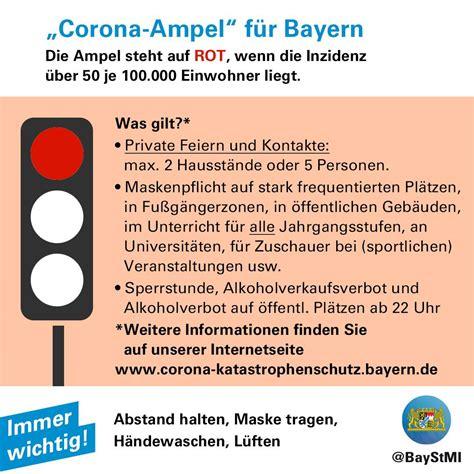 Nun sollen noch strengere regeln helfen, die zahl der neuinfektionen einzudämmen. COVID-19   Bayern: Die Regeln der Corona-Ampeln in deutsch ...