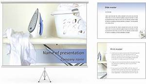 ironing cloths powerpoint template backgrounds id With ironing service flyer template
