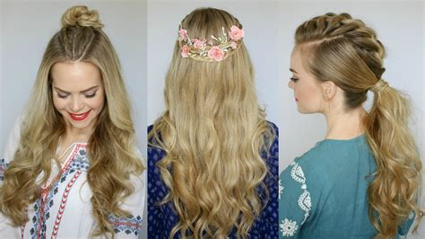 coachella inspired hairstyles missy sue youtube