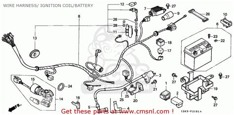 honda st50 dax 1990 l germany wire harness ignition coil battery buy wire harness ignition