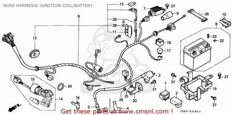 honda st70 dax 1990 spain ms wire harness ignition coil battery schematic partsfiche