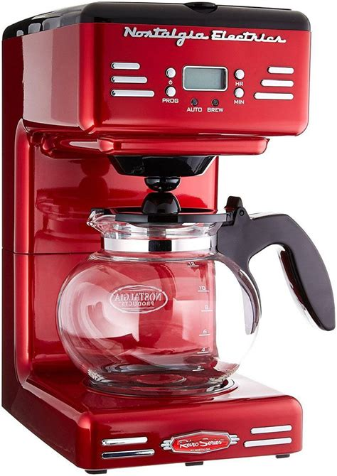 It has some basic features that make brewing easy and simple, like a water window so you don't have to worry about overfilling and a pause button that. Nostalgia Retro 12-Cup Programmable Coffee Maker Offer ...