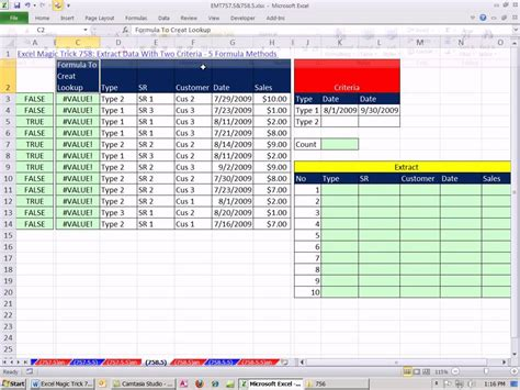 Or Exle excel magic trick 758 5 extract data with four criteria