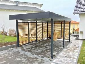 Carport Aus Betonfertigteilen : carport aus metall in ral 7016 mit douglasie rhombus ~ Sanjose-hotels-ca.com Haus und Dekorationen